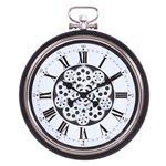 掛け時計 ギア L Φ52cm ブラック