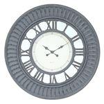 壁掛け時計/ウォールクロック 【グレー】 幅750×奥行70×高さ750mm 『デネブ』 〔リビング ダイニング〕