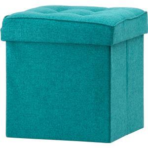 ボックススツール 幅38cm ブルー(BL)【2個セット】 - 拡大画像