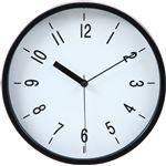 掛時計 ハリー Φ22cm ブラック (BK)(99038)【3個セット】