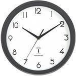 電波掛時計 カペラ Φ27cm ブラック (BK)(27269)【3個セット】