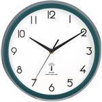 電波掛時計 カペラ Φ27cm グリーン(GR)(27267)【3個セット】