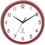 電波掛時計 カペラ Φ27cm レッド(RD)(27266)【3個セット】