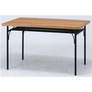 食卓テーブル ナチュラル 幅120×奥行80×高さ72cm 組立品 - 拡大画像