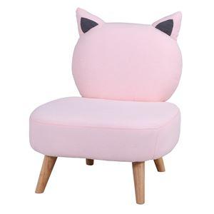 猫ソファ 1P ピンク 幅63×奥行68×高さ75cm 組立品 - 拡大画像