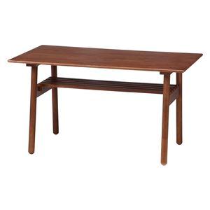 ダイニングテーブル ミディアムブラウン 幅120×奥行70×高さ66cm 組立品 - 拡大画像