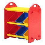 トイボックス S 100pcsブロック付 幅55×奥行35×高さ60cm 〔ブロック内訳:大14PCS、中6PCS、小5PCS×4色(青、赤、黄、緑)〕