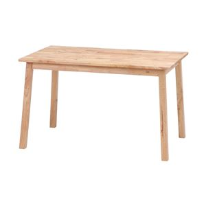ダイニングテーブル ナチュラル 幅120×奥行75×高さ72cm 組立品 - 拡大画像