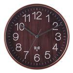 電波掛時計 プライウッド Φ28cm BR ブラウン(85351)【3個セット】