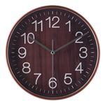 掛時計 プライウッド Φ28cm BR ブラウン(85367)【3個セット】