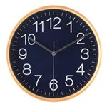 掛時計 プライウッド Φ28cm NV ネイビー(85369)【3個セット】