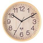 電波掛時計 プライウッド Φ28cm ナチュラル(NA)