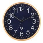 電波掛時計 プライウッド Φ28cmネイビー(NV)
