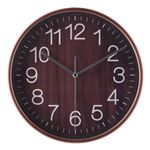 掛時計 プライウッド Φ28cm ブラウン(BR)