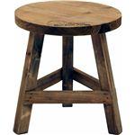 木製フラワースタンド ロー ラウンドmoku ブラウン (2個セット)