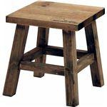 木製フラワースタンド ロー スクエアmoku ブラウン (2個セット)