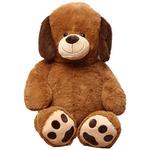 【8個セット】子供用 ぬいぐるみ/人形 【犬型 ブラウン】 幅45cm 〔おもちゃ 子ども部屋〕