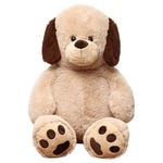 【8個セット】子供用 ぬいぐるみ/人形 【犬型 ベージュ】 幅45cm 〔おもちゃ 子ども部屋〕
