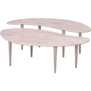 Natural Signature センターテーブル COFFEE ホワイトウォッシュ - 拡大画像