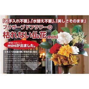 プリザーブドフラワーの枯れない仏花 mini - 拡大画像