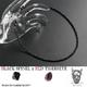 魅惑のブラックスピネル&レッドタイガーアイネックレス - 縮小画像1