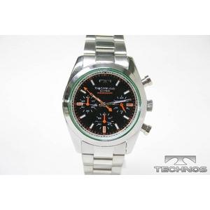TECHNOS(テクノス) クロノグラフ腕時計 シルバーブラック TBM527SB - 拡大画像