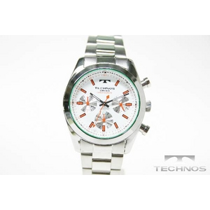 TECHNOS(テクノス) クロノグラフ腕時計 シルバーホワイト TBM527SW - 拡大画像