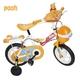 stitch & pooh 12インチ子供自転車 補助輪・カゴ付き 黄色2台セット - 縮小画像1