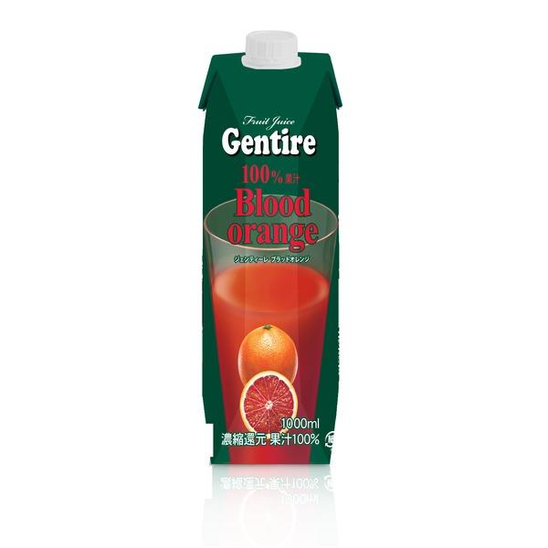 Gentire(ジェンティーレ) ブラッドオレンジジュース 1L×12本