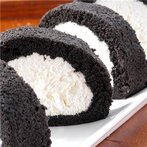 紀州備長炭ロールケーキ2本セット - 拡大画像