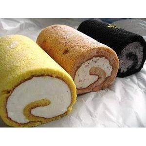 新!ロールケーキ3種 ロールケーキ三姉妹(炭ゴマ・豆乳・とちおとめ) - 拡大画像