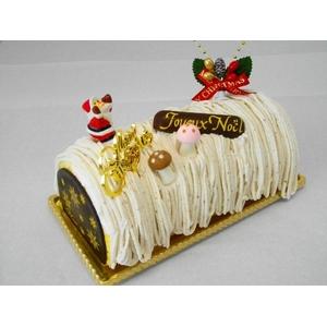 【12月8日で予約終了 2010年クリスマス向け】X'mas 渋皮マロンノエル【12/21より順次発送】 - 拡大画像