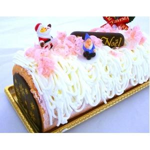 【12月8日で予約終了 2010年クリスマス向け】ノエルいちごケーキ【12/21より順次発送】 - 拡大画像