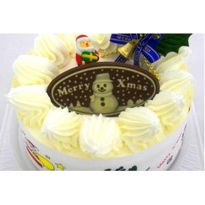 【12月8日で予約終了 2010年クリスマス向け】クリスマスケーキ ホワイト5号 【12/21より順次発送】 - 拡大画像