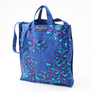 MARC BY MARC JACOBS(マークバイマークジェイコブス) ダブルハンドル トートバッグ Flower Tote Blue/Purple(117505) - 拡大画像
