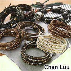 CHAN LUU(チャンルー) ラップブレスレット 【B】Gold×Brown - 拡大画像