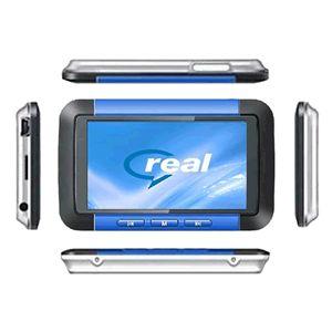 3インチ液晶 MP3/MP4プレーヤー 8GB F098 ブルー - 拡大画像