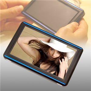デカタッチ 4.3インチ8GB内蔵 動画&音楽プレーヤー ブラック&ブルー - 拡大画像