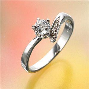 姫系ダイヤリング 指輪 ホワイトトパーズリング13号 - 拡大画像