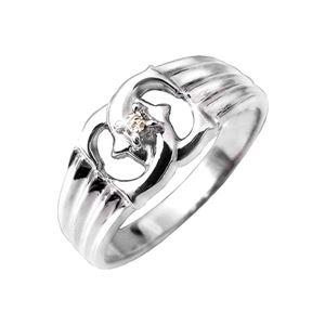 エックスダイヤリング 指輪 9号 - 拡大画像