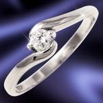 ダイヤリング 指輪Sラインリング 9号