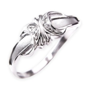 ダイヤリング 指輪エレガントリング 11号 - 拡大画像