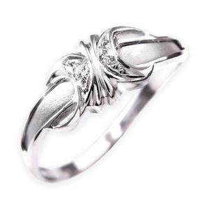 ダイヤリング 指輪エレガントリング 15号 - 拡大画像