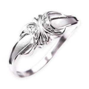 ダイヤリング 指輪エレガントリング 19号 - 拡大画像