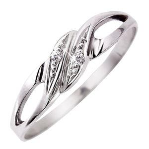 ダイヤリング 指輪 9号 - 拡大画像