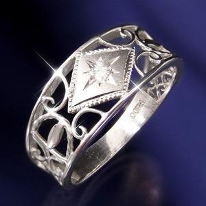 アンティークダイヤリング 指輪 25号 - 拡大画像