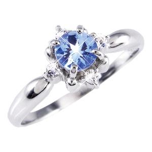 タンザナイト&ダイヤリング 指輪 9号 - 拡大画像