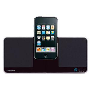 Princeton iPhone/iPod対応コンパクトスピーカー「i-Swing」 ブラック - 拡大画像