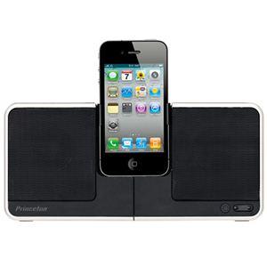 Princeton(プリンストン) 薄型iPod/iPhoneスピーカー PSP-IS2B ブラック - 拡大画像