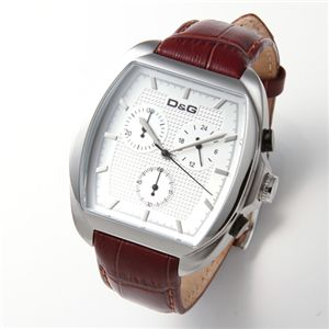 D&G(ディーアンドジー) 腕時計 MARTIN クロノグラフ ユニセックスレザーウォッチ DW0428 - 拡大画像